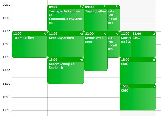 My University Schedule